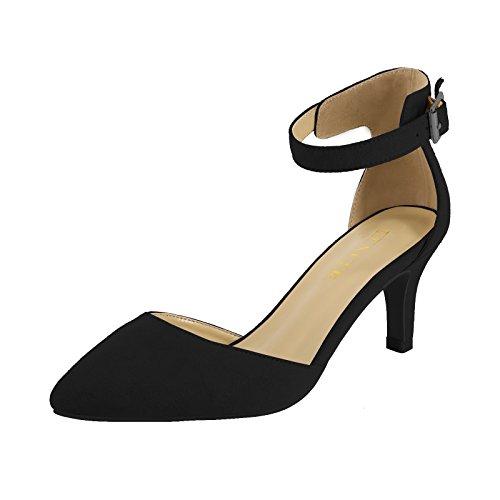 Ankle Strap Low Platform Shoe - Eunicer Women's Ankle Strap Low Heel Stiletto Dress Pump Shoes