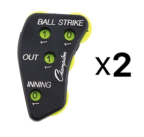 Champion 4-Wheel Baseball Softball Umpire Indicator Count Clicker (2-Pack) by Champion Sports