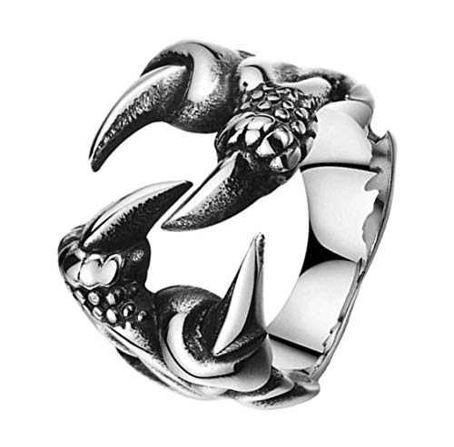 Sorella'z Mens Metal Claw Silver Tone Ring US9