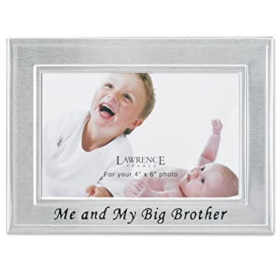 Lawrence Frames Big Brother Silver Plated 6x4 Picture Frame - Me And My Big Brother Design