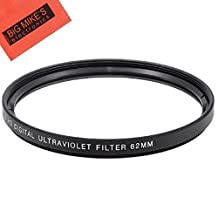 62mm Multi-Coated UV Protective Filter For Nikon DF, D90, D3000, D3100, D3200, D3300, D5000, D5100, D5200, D5300, D5500, D7000, D7100, D300, D300s, D600, D610, D700, D750, D800, D810 Digital SLR Cameras Which Has Any Of These Nikon Lenses 20mm f/2.8 AIS, 20mm f/2.8D, 60mm f/2.8D, 60mm f/2.8G ED, 105mm f/2.8G, 70-300mm f/4-5.6G