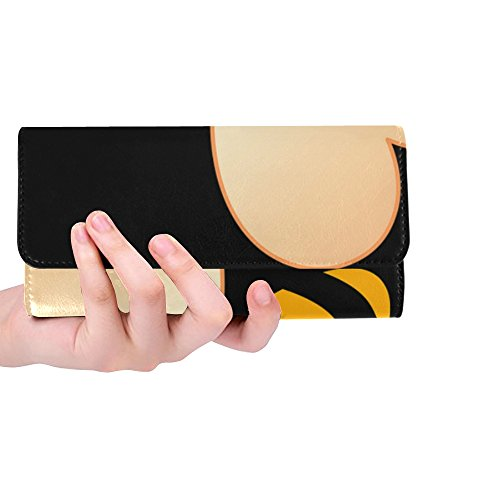 Unique Custom Bee Insect Animal Pet Nature Honey Illustration Women Trifold Wallet Long Purse Credit Card Holder Case Handbag