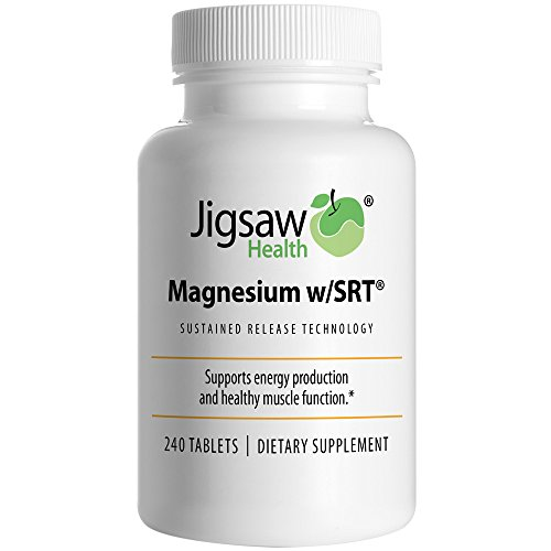 Jigsaw Magnesium wSRT - Premium Organic Slow Release Magnesium Supplement - Active Bioavailable Magnesium Malate Tablets With B-Vitamin Co-Factors 240 Tablets