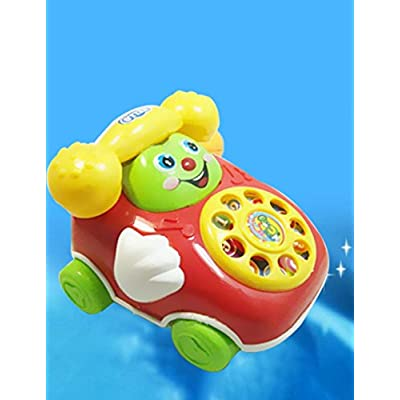 Lanbter Baby Toys Cartoon Car Phone Kids Educational Developmenta Push & Pull Toys: Home & Kitchen