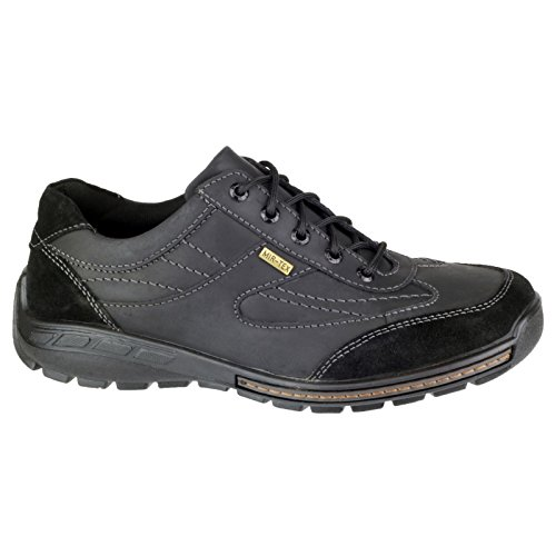 Cotswold Mens Shipston Crazy Horse Waterproof Leather Lace Up Casual Shoe Black HF1RqEI4t