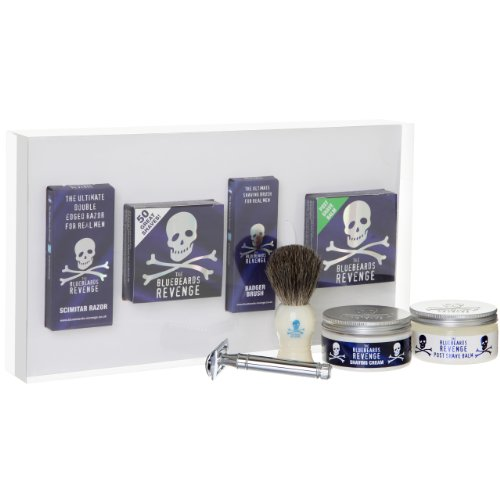 The Bluebeards Revenge Shaving Cream, Brush and Double Edge Razor Gift Set by The Bluebeards Revenge