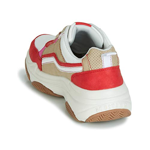 rot 303 Femme Mustang Baskets Beige Weiß 535 Mehrfarbig 535 1294 qB1UxUvY