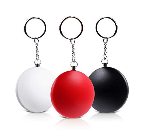 Catsonic Personal Alarm, Pocket Alarm, Keychain with 130db Alarm, Self-Protection for Woman and Children, Alarm Keychain, Set of 3, Safety for Your Family, in Black, Red, White Review