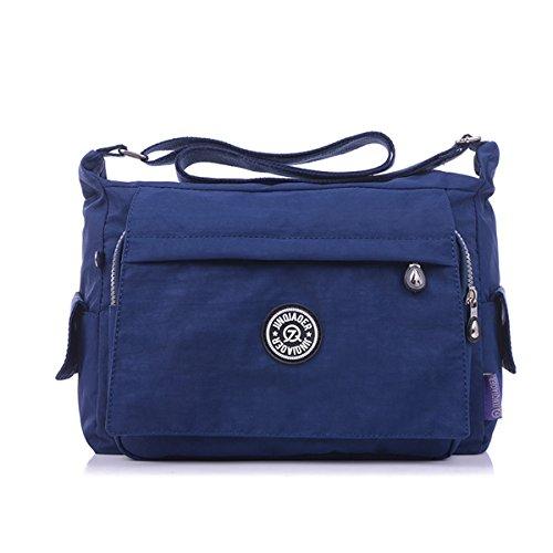 Light Pockets Bag blue Cross Nylon Multiple Bag Sports Messenger body Womens TianHengYi Navy Fabric Shoulder Zipper vAwCCq