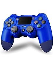 Maegoo Draadloze controller voor P4, Bluetooth Controller P4 Gamepad Joystick voor P4/Slim/Pro, P4 Game Controller met dubbele vibratie, 6-assige somatosensoriek, aanraakpaneel, audio