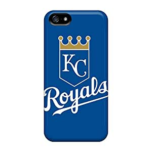 Protective Hard Phone Covers For Apple Iphone 5/5s With Support Your Personal Customized Beautiful Baseball Kansas City Royals Series Customcases88