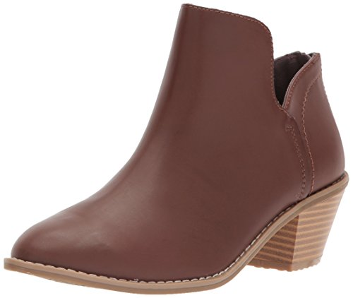 Rocket Dog Women's Bomer Smooth PU Ankle Boot, Dark Brown, 8 M (Ladies Brown Leather Ankle Boots)
