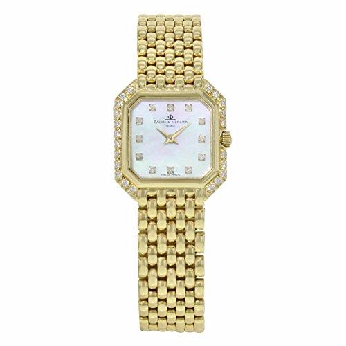 Baume et Mercier Geneve analog-quartz womens Watch 18259 (Certified Pre-owned)