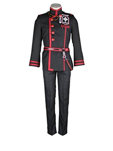 D Gray Man Allen Walker Costumes (Mtxc Men's D.Gray-man Cosplay Costume Allen Walker 3rd Size Large Black)