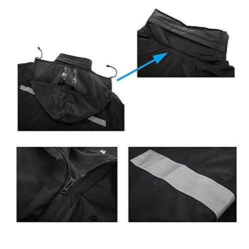 Maiyu Motorcycle Rain Suit Waterproof Rain Jacket and Pants Set 2 Piece Rain Gear For Adult by Maiyu (Image #5)