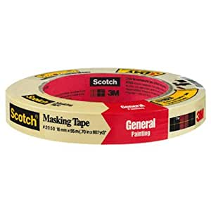 3M Scotch Greener Masking Tape for Performance Painting,  .70 in by 60.1-Yard, 1-Pack