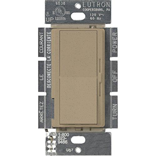 Lutron DVSCELV-300P-MS Diva 300-watt Single Pole Electronic Low-Voltage Dimmer, Mocha Stone