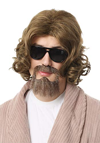 Fun Costumes Big Lebowski Adult The Dude Wig and Beard Kit Standard Golden Brown -