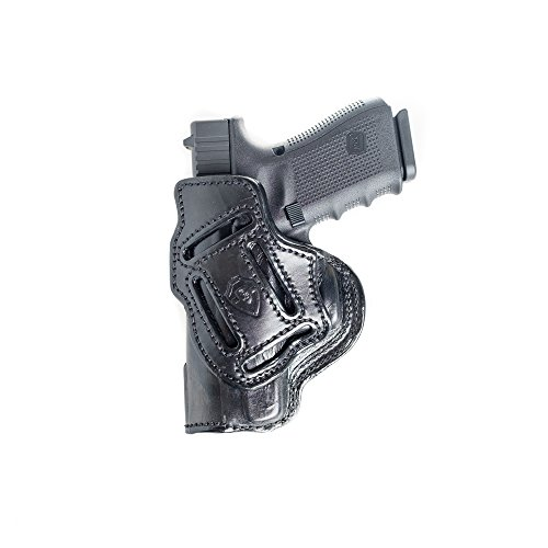 4 In 1 Leather Holster Fits Glock 17 / 21 / 31. IWB Inside Waistband Conceal or Outside Waistband OWB Holster. (C300 Holster)