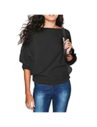 Shinekoo Women Sexy Bat SLeeve Blouse Autumn Casual Top Jumper Pullover