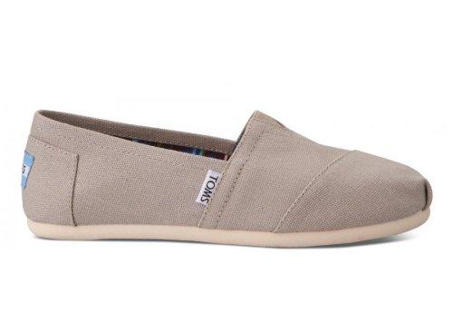 TOMS Women's Classics Flat, Light Grey, 6 B-Medium