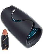 Penis Vibratoren und Penistrainer mit 10 Vibrationsmodis und Heizungsfunktion Elektrische Masturbatoren Mit USB-Aufladung Moruioy Sexspielzeug für Männer