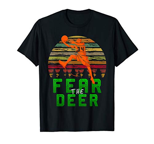 Fear The-Deer Gift For Milwaukee Basketball Bucks Fans 34 T-Shirt