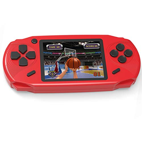 Beijue 16 Bit Handheld Games for Kids Adults 3.0'' Large Screen Preloaded 100 HD Modern Video Games Seniors Electronic Game Player for Boys Girls Birthday Xmas Present (Red) (Girls Video Games)