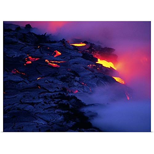 GREATBIGCANVAS Poster Print Entitled Photo, Molten Lava, High res, Color by 40