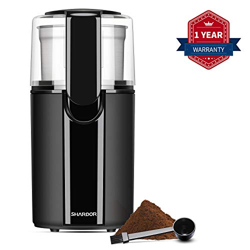 SHARDOR Electric Coffee Grinder with Removable Cup, Black, CG618B1