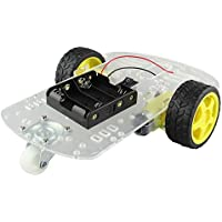 KKmoon DIY Smart Robot Car Chassis Kit for Arduino - Black + Yellow works (with official Arduino boards)