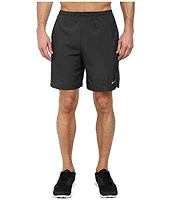 "Men's Nike 7"" Challenger Dry Running Short Anthracite/Black/Reflective Silver Size Small"