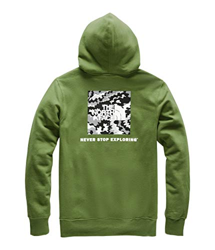 The North Face Men's Red Box Pullover Hoodie, Garden Green/TNF Black Psychedelic Print, Small