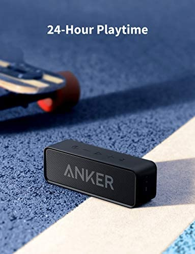 Anker Soundcore Bluetooth Speaker with Loud Stereo Sound 24Hour Playtime 66 ft Bluetooth Range