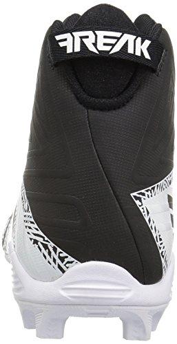 Pictures of adidas Men's Freak X Carbon Mid Football Shoe, Black/Metallic Silver/White, 9.5 Medium US 8