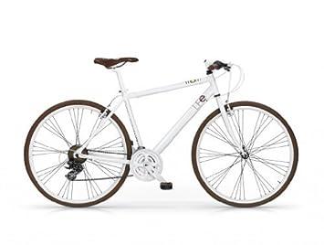 MBM LIFE IBRIDA 28 H50 BICYCLE BIKE BICICLETA SHIMANO MTB WHITE ...