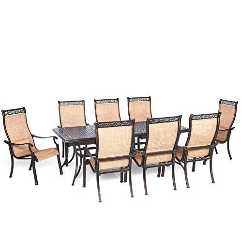 Hanover Manor 9-Piece Dining Set Golden Bronze/Cedar MANDN9PC