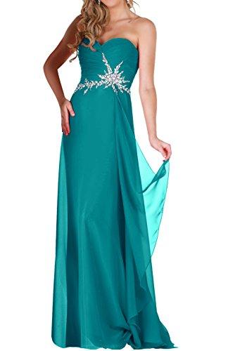 En forma de corazón de Toscana de la gasa de la novia vestidos de noche para mujer piedras madrinas a largo bola de vestidos de fiesta Tuerkis