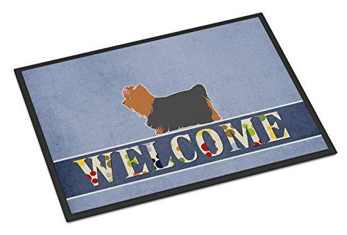 Caroline's Treasures Yorkshire Terrier Yorkie Welcome Doormat 18 x 27 Multicolor