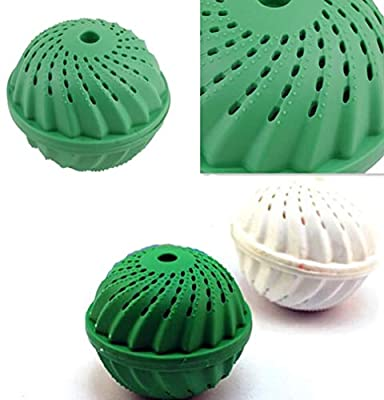 Laundry Balls & Discs - Eco Friendly Green Laundry Ball Anion Molecules Cleaning Magic Wash Washing - Ball Clean Friendly Bag Laundry Laundry Toothbrush Ball Ball Laundry Wash Decontamination