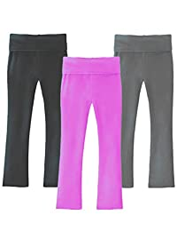 Clementine Apparel Girls 3 Pack Yoga Pants for Girls