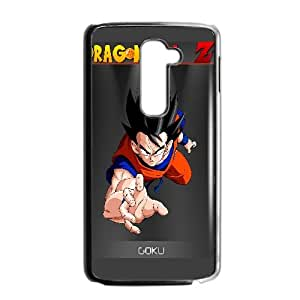 Goku Dragon Ball Z Anime LG G2 Cell Phone Case Black Transparent Protective Back Cover 733
