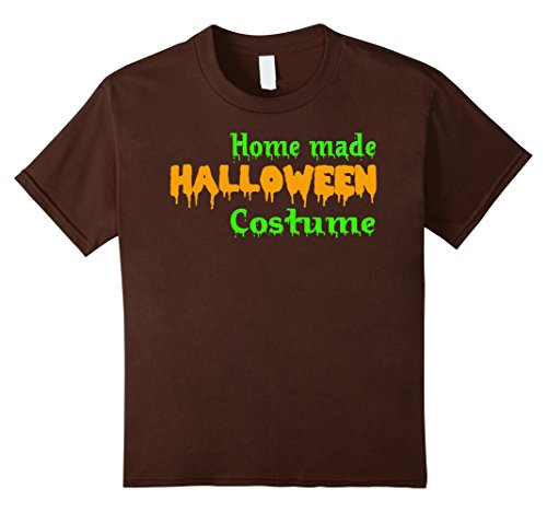 Kids Home Made Halloween Costume T-Shirt 10 Brown - Home Made Halloween Costumes Ideas