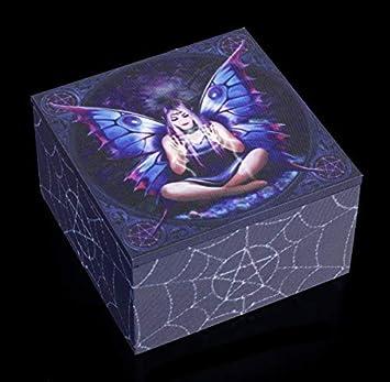 Unbekannt Fantasía Spiegel-Schatulle con Elfen-Motiv en el Tapa - Spell Weaver Caja de Joyería de Madera y Tela, Motivo Von Anne Stokes: Amazon.es: Hogar