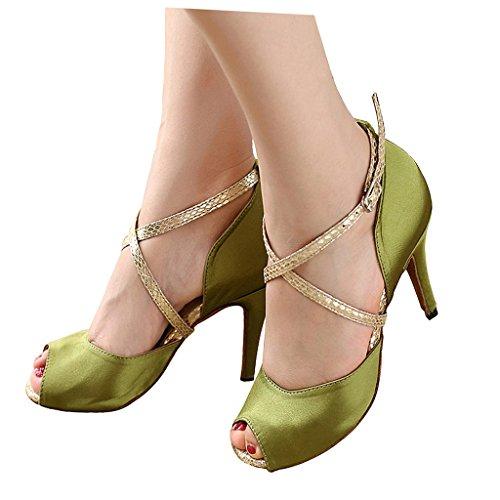 misu , Damen Tanzschuhe grün grün