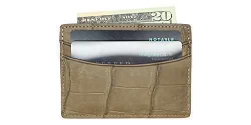 Genuine Pocket Alligator 5 IN Mink MADE CC13 USA Case Card Wallet 1qB6xdwgx