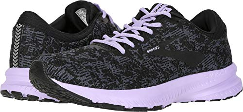Brooks Women's Launch 6 Ebony/Black/Purple Rose 8.5 B - Ebony Rose
