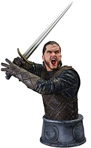 Dark Horse Deluxe Game of Thrones: Jon Snow Battle of the Bastards Limited Edition Bust Action Figure (Statue White Snow)