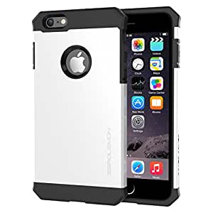 ZeroLemon Apple iPhone 6 Plus, 5.5 inch Case - Razor Armor Pearl White Hard / Black Gel Hybrid Protective Case - Premium Cover for Apple iPhone 6 5.5'' [180 Days Warranty]