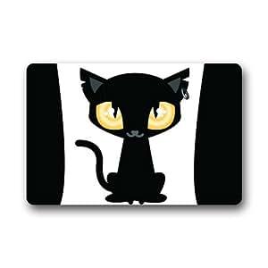Cartoon Fox Background Doormat/Gate Pad for outdoor,indoor,bathroom use!23.6inch(L) x 15.7inch(W)